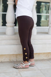 Girl's Full Leggings with Shell Buttons