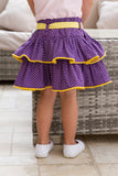 Girl's Purple Polka Rara Skirt