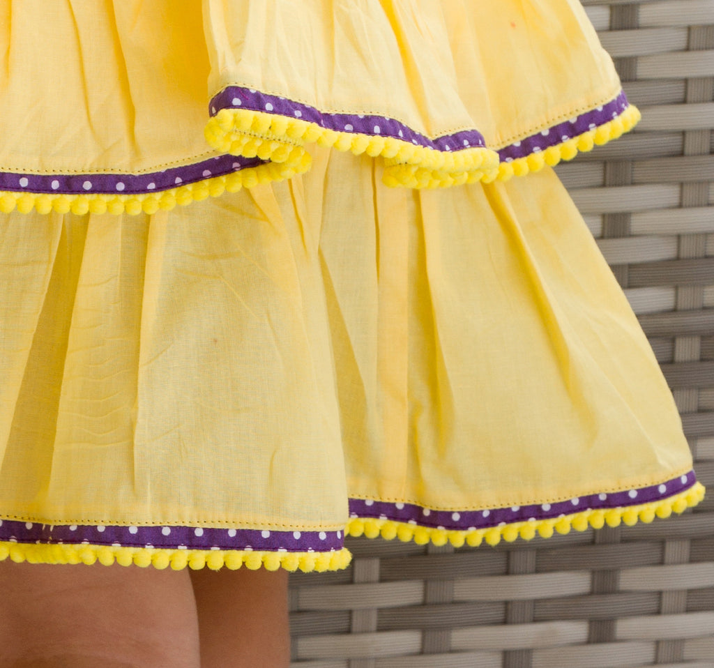 Girl's Yellow Rara Skirt