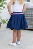 Girl's Denim Bubble Skirt