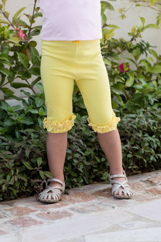 Girl's Cropped Leggings with Butterfly Detail