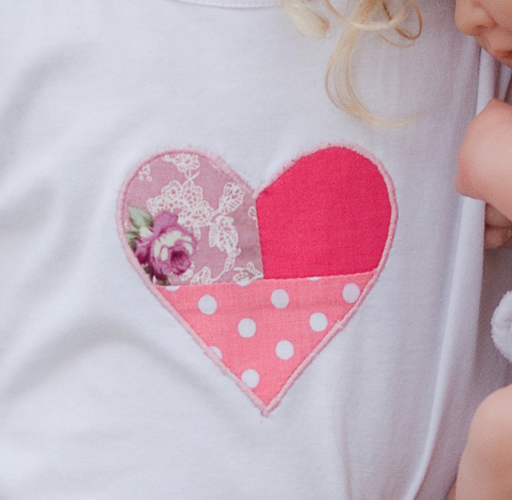Girl's Heart Applique Top