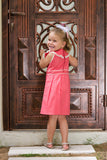 Girl's Pleated Cotton Dress