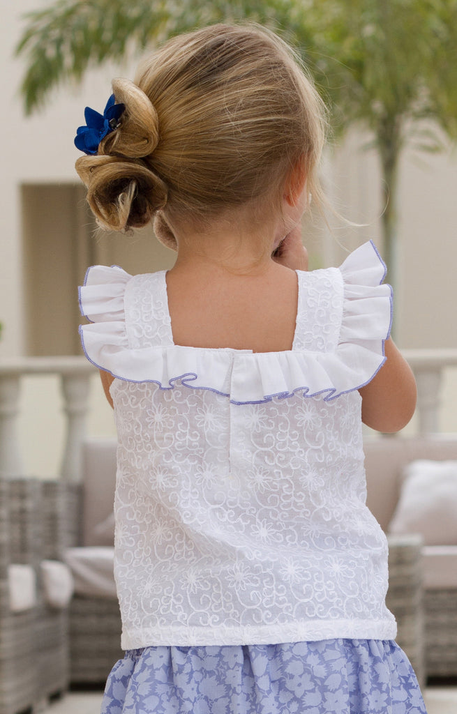 Girl's Broderie Anglaise Top