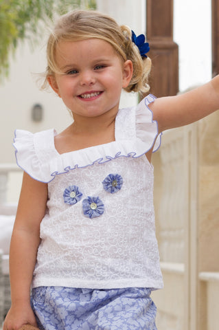 Girl's Frilly Floral Dress