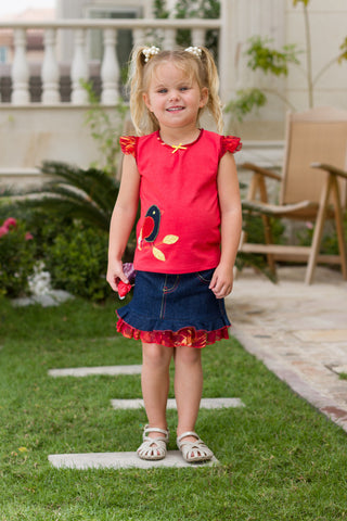 Girl's Tiered Cotton Dress