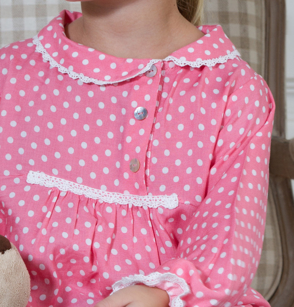 Girl's Pretty Polka Blouse