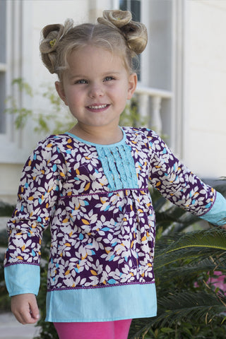 Girl's Birdie Applique Top