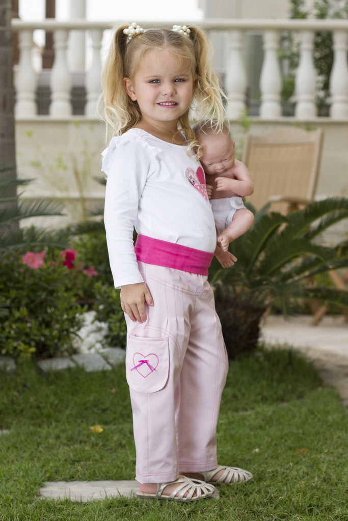 Girl's Cotton Pull-up Pants