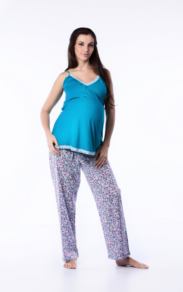 Maternity PJ set Green