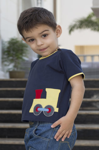Boy's Rocket Applique Tee