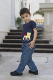 Boy's Engine Applique Tee