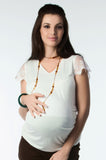 Lace Sleeved Maternity Knit Top