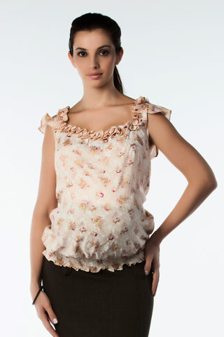 Maternity Top with Lace Edging