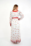 Floral Empire Line Maternity Maxi Dress