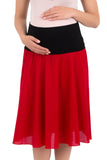 Comfy Maternity Pull-on Skirt