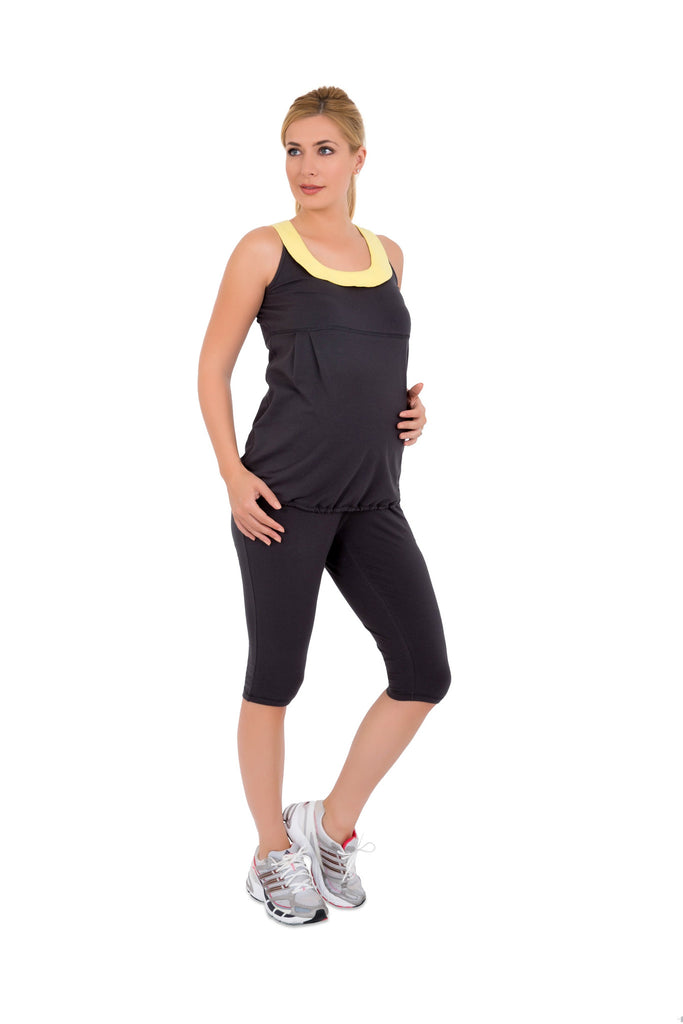 Grey Maternity active tank