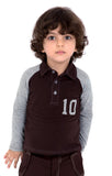 Boy's No-10 Applique Polo Shirt