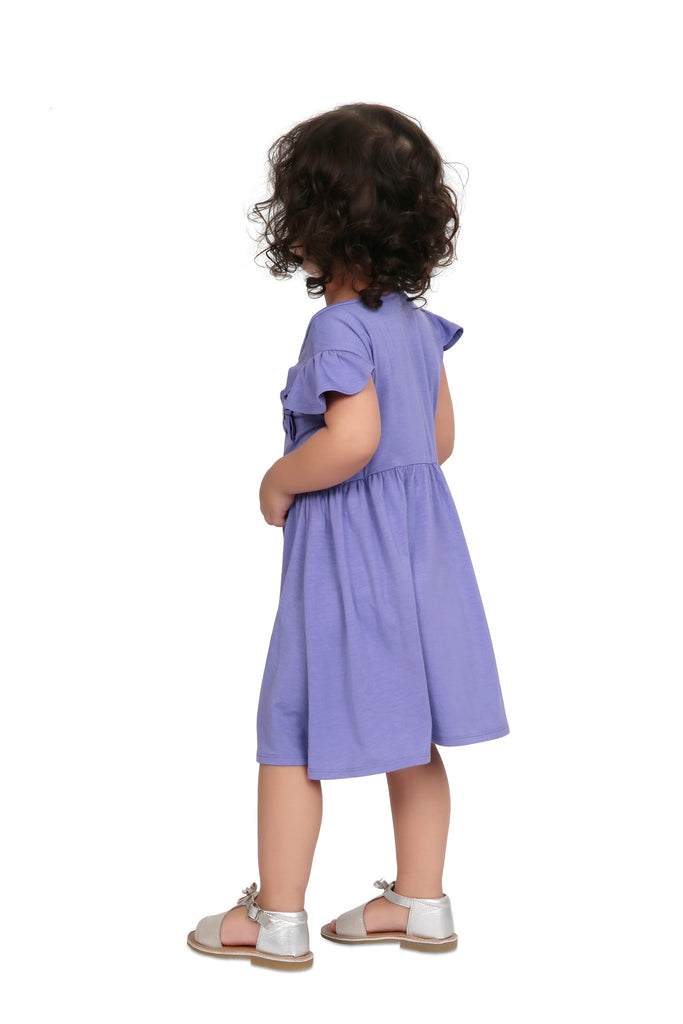 Girl's Chic Purple Dress