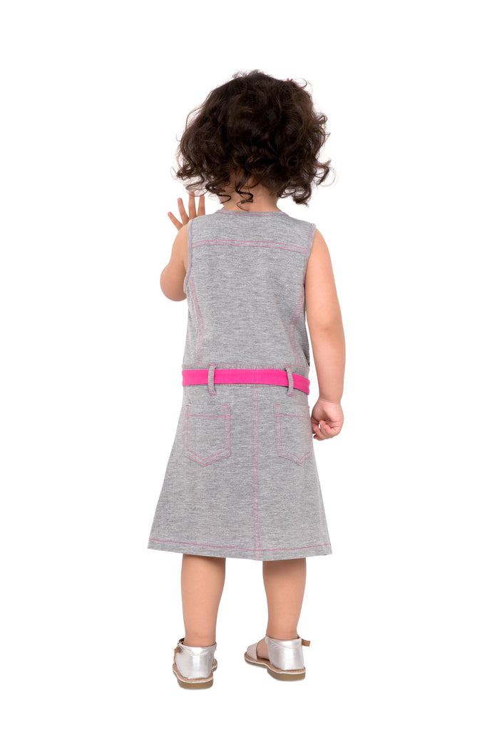Girl's Gray Safari dress