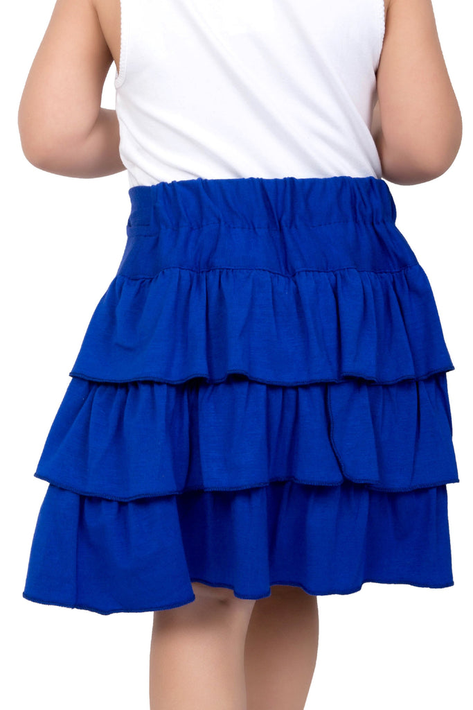 Girl's Blue Jersey Skirt