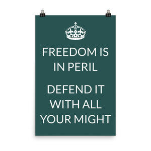 Freedom is in peril Poster