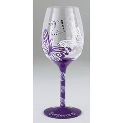 21st Birthday Chic Wine Glass