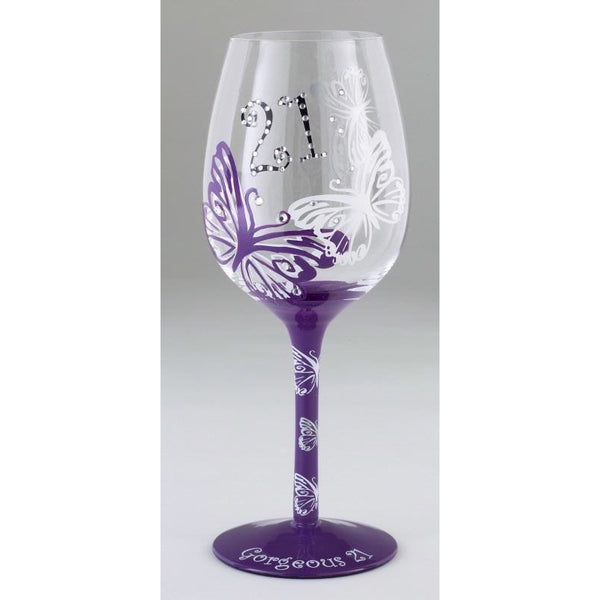 21st Birthday Chic - Tallulah Wine Glass | kitchenware | Affordable gifts for him for her at giftpunk.com - FREE delivery