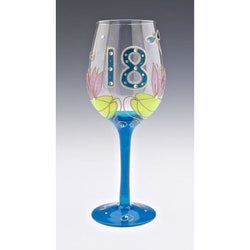 18th Birthday Dragonfly Wine Glass