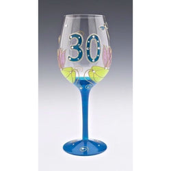 30th Birthday Dragonfly Wine Glass