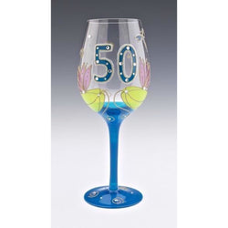 50th Birthday Dragonfly Wine Glass