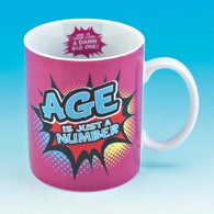 Age Is Just A Number Mug | kitchenware | Affordable gifts for him for her at giftpunk.com - FREE delivery