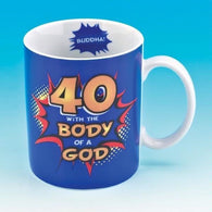 40 With the Body of a God Mug