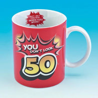 You Don't Look 50 Mug | kitchenware | Affordable gifts for him for her at giftpunk.com - FREE delivery