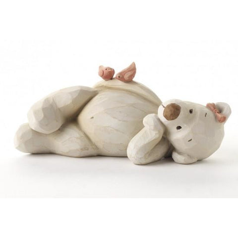 Daisy Bear Lying Down With Birds - Bear Necessities - giftpunk.com