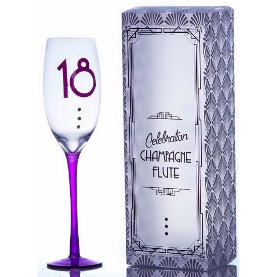 18th Birthday Champagne Flute | kitchenware | Affordable gifts for him for her at giftpunk.com - FREE delivery