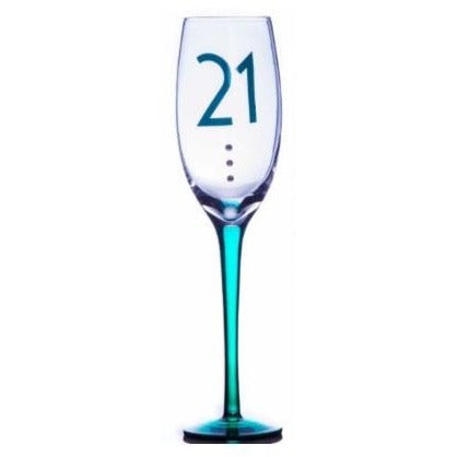 21st Birthday Champagne Flute | kitchenware | Affordable gifts for him for her at giftpunk.com - FREE delivery