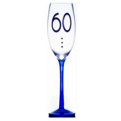 60th Birthday Champagne Flute | kitchenware | Affordable gifts for him for her at giftpunk.com - FREE delivery
