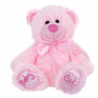 Baby Girl Pink Bear - Baby Paws | toys | Affordable gifts for him for her at giftpunk.com - FREE delivery