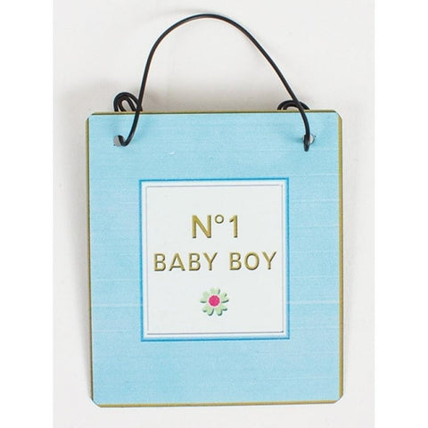 No 1 Baby Boy - Metal Sign - giftpunk.com
