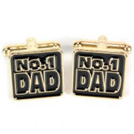 No.1 Dad Cufflinks | accessory | Affordable gifts for him for her giftpunk.com - FREE UK delivery
