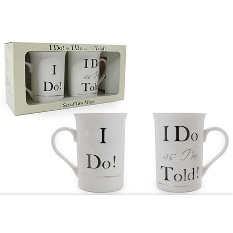 I Do! I Do as I'm Told - Mug Set - giftpunk.com