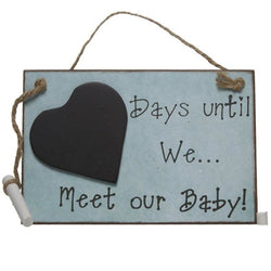 Days until we... Meet our Baby! - Sign - giftpunk.com