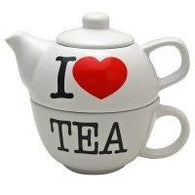 I Love Tea - Teapot & Mug Set | kitchenware | Affordable gifts for him for her at giftpunk.com - FREE delivery