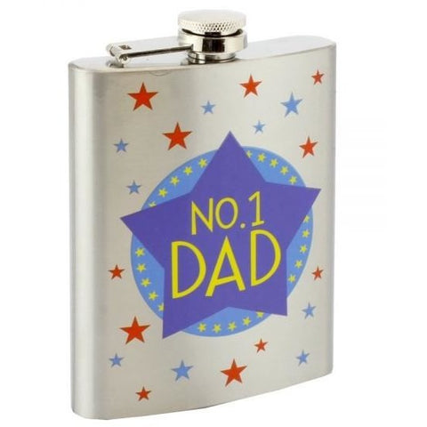 No.1 Dad - Hip Flask - giftpunk.com