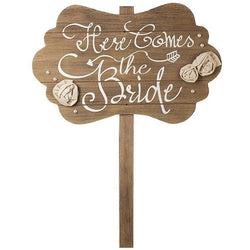 Here Comes The Bride - Wooden Stake - giftpunk.com