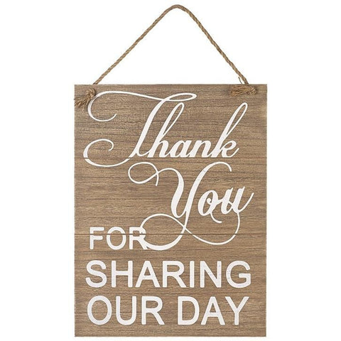 Thank you for sharing our day - Wooden Sign - giftpunk.com