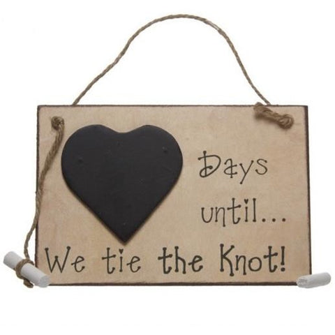 Days until... We tie the knot! - Sign - giftpunk.com
