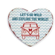 Camper Van - 'Let's Go Wild And Explore The World!' Magnet - giftpunk.com