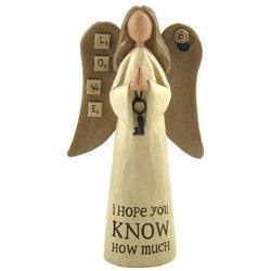 Love, I hope you know how much - Angel Ornament - giftpunk.com